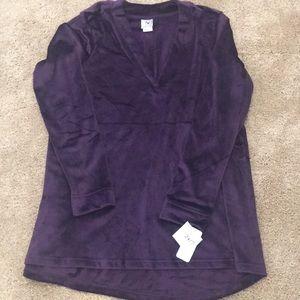 """Natori"" plush top, size M, NWT, purple"
